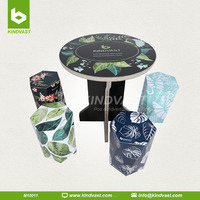Stools and tables with paper material, various corrugated paper colorful furniture