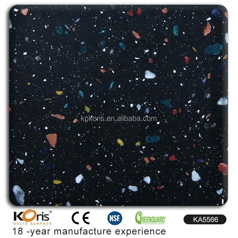 KA5566 Construction Building Raw Materials Solid Surface Composite Marble Top Dining Table