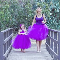 Boutique fashion new style family matching outfits, mommy and me maxi dress, mother and daughter dress design