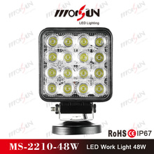 "Factory price 48W 4"" High bright led head bumber lamp, 12V LED driving light for off road car,heavy duty tractor truck"