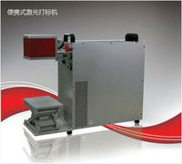 Portable 10W 20W 50W Fiber Laser Marking Machine american one clothing