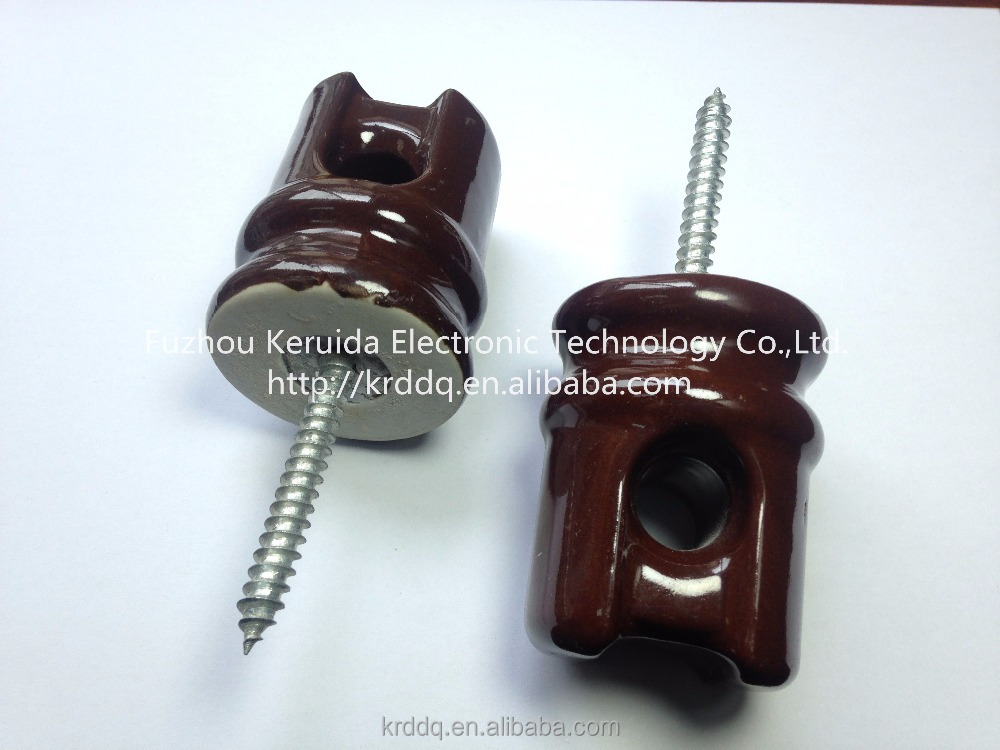 electric fence wiring corner porcelain / ceramic screw insulator