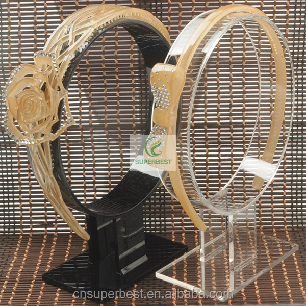 Wholesale factory custom clear acrylic headband display stand