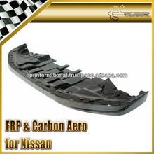 For Nissan R35 GTR GT-R OEM Carbon Fiber Front Lip Diffuser Bottom Splitter with undertray