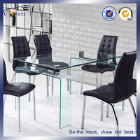 Home Furniture Dining Room Transparent Glass Dining Table