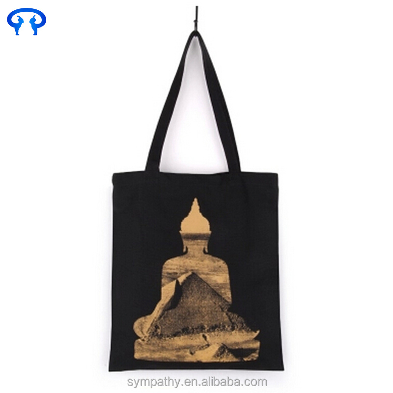 Low price canvas tote bag with custom printed bag logo