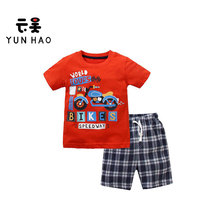 Little Boys Clothing Set 2pcs T-Shirt and Shorts Kids Clothes Cartoon Summer 2-7 Years