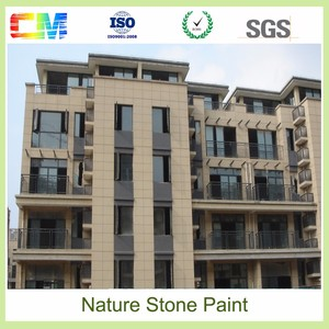 Weather resistant anti uv spray natural stone paint coating water proof coating