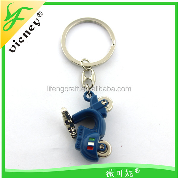2016 new beautiful design high quality motorcycle metal keychain