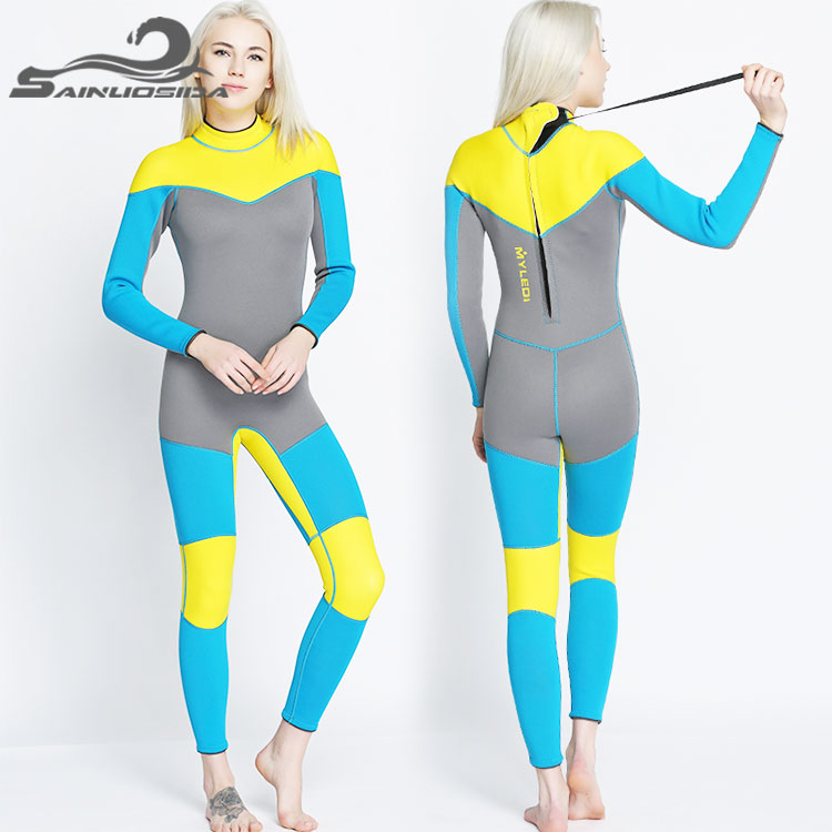 Free sample wholesale custom colored neoprene scuba xxl womens sexy commercial diving surfing wetsuit for women plus size
