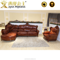 European style traditional chesterfield classical sofa set