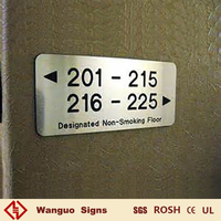 customized hotel room number signs