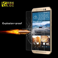 Professional manufacturer supply 9H hardness anti scratch anti shock tempered glass for HTC ONE M9 screen protector