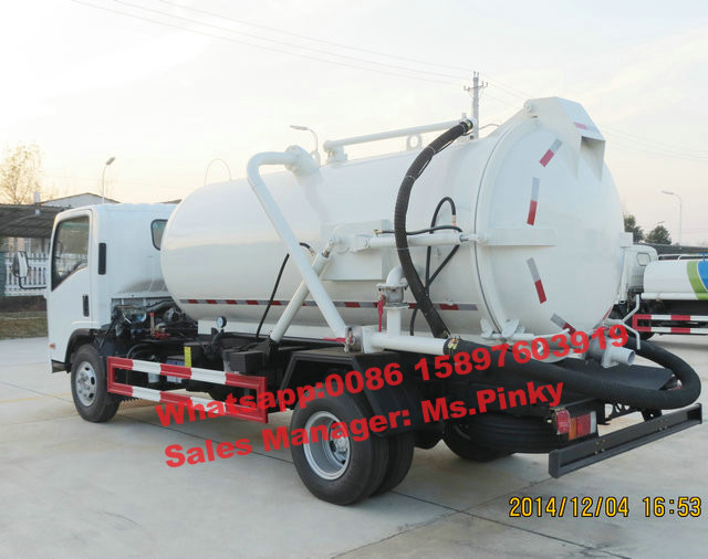 China Best Price Japanese Euro 4 190HP Sewage Suction Tank <strong>Truck</strong>, 6000Liters Vacuum <strong>Truck</strong> For Sales