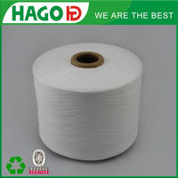 Hago ne18s cotton tc blended open end regenerated remnant cotton and polyester yarn
