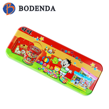 decorative tin boxes pencil case for teenagers Rectangular Shape pencil boxes