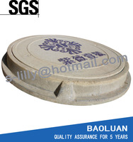 polymer resin concrete sewer cover with frame en124 D400 RM093