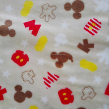 Manufacturers Supply Two Sides 100% Polyester Flannel Fleece Printed Mickey Mouse Fabric For Blanket,Bathrobe,Sleepwear