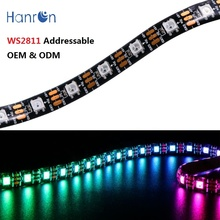 Dmx 12V 24v Pixel Programmable magic Digital 5050 2811 W2811 WS2811 Addressable <strong>RGB</strong> LED Strip