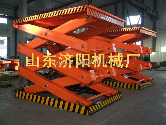 4m 3T SKYSCRAPING TOWER stationary hydraulic scissor lift table