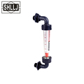 Elbow flow meter Plaatic panel mount rotameter flowmeter with elbow