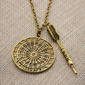 New style men's gold plated wholesale jewelry Parts metal Pendant Necklace