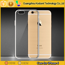 2016 0.3mm transparent tpu ultra-thin stealth mobile phone case for iphone 6 smartphone