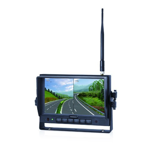 LCD 2.4G wireless 7inch Split display car rear view mirror monitor