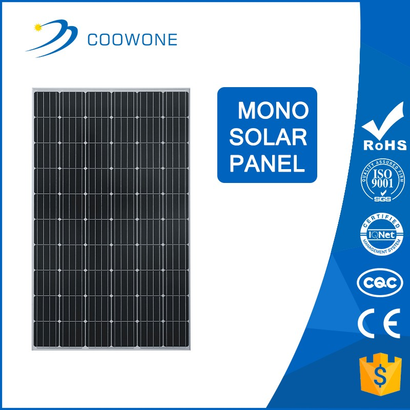 China gold supplier solarworld 250W Monocrystalline price per watt solar panels For Home Use
