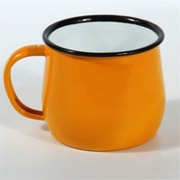 best selling products promotional different color bell printed enamel camping mug for christma