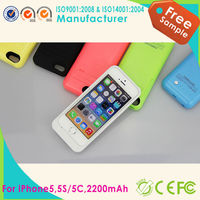 Hot selling 2200 mAh Backup External Battery Power Bank Charger Stand Case for Iphone 5