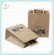 100% original wood pulp paper bag,brown shopping bag paper