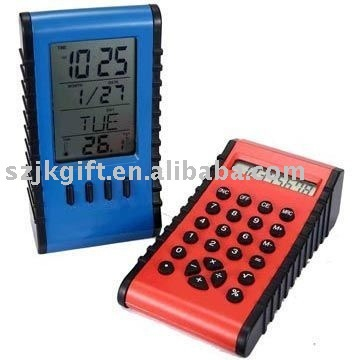 2 in 1 calculator with calendar clock
