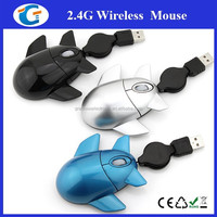 Computer accessories retractable usb wired airplane mouse