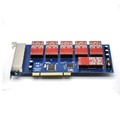 Factory price 24 ports analog card, single side with 12 dual FXO/FXS, PCI telephony card