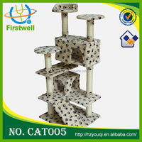 unique creative design cat tree with thick sisal rope oem high quality pet products supplier