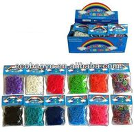 Glitter Loom Bands / Rubber Bands With Display Box / Loom Kit
