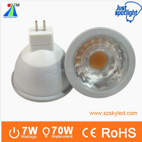 Ra90 cob dimmable 650lm 12v spot 7w high cri mr16 led