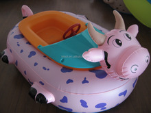 Colorful and animals style kids water boat paddle boat electric bumper boat D4