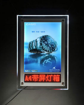 Hot Selling low price China Manufacturer led slim snap frame light box