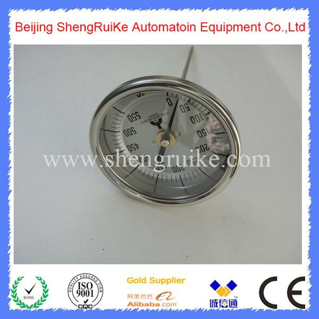 0-550C WSS back Bimetal Thermometer for furnace