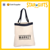 wholesale colored top band logo printed shopping bag cotton tote bags