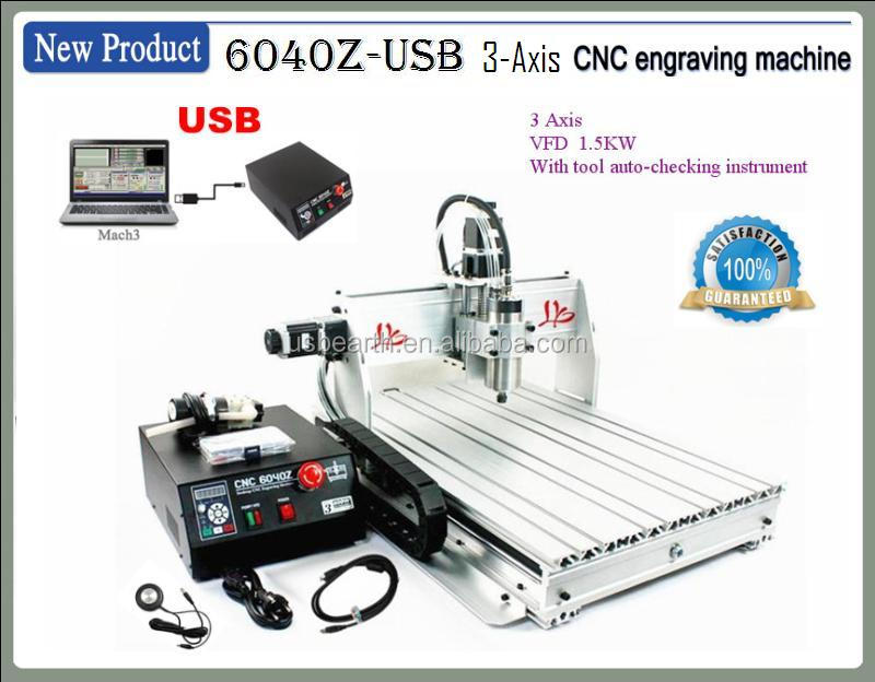cnc engraving machinery MACH3 CNC router 6040 VFD spindle