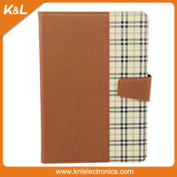 Check Pattern Stand Tablet Cover For iPad Mini PU Leather Case,For Apple iPad Mini Luxury Case