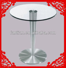 Modern round coffee table metal legs round glass coffee table dining table