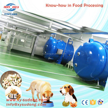 Vacuum freeze dryer for pet food