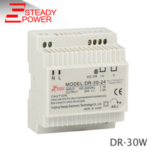 Steady 24v 1.25a 30w ac to dc industrial Din Rail psu DR-30-24 led driver power supply 24vdc 30w electric transformer