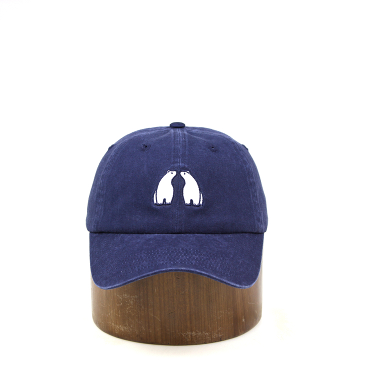 Wholesale high quality unisex navy blue washed baseball cap and dad <strong>hats</strong> as gifts