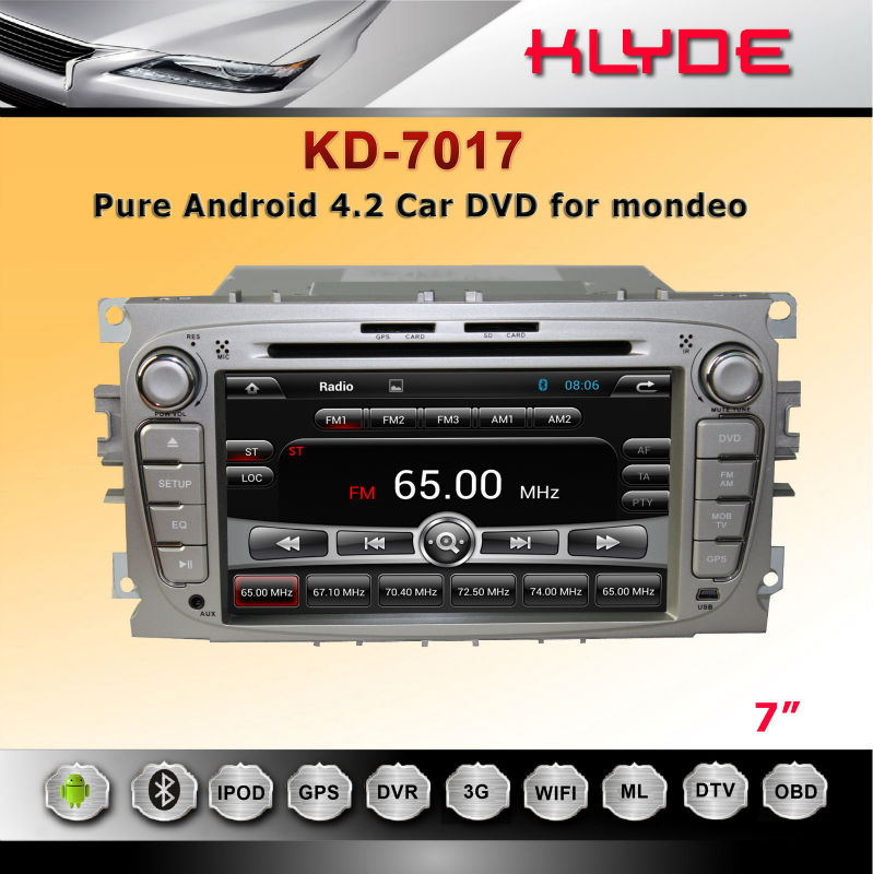 Original Manufacturer!! Built-In GPS For mondeo Pure Android Car Dvd Navigation