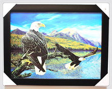 PET 3D material All plastic fly eagle 3d painting for decoration